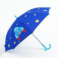rosa kinder regenschirm großhandel-Regenschirm Kinder Langgriff Regenschirm für Kinder 3D Tiere Drucken Niedliche Kinder Junge Mädchen Sonnenschutz Kinderwerkzeuge Rosa Z524