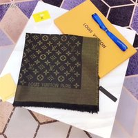 hilo de calidad al por mayor-Moda mujer bufandas tamaño grande 140 * 140 cm último hilo de oro brillante lana de cachemira seda textil textil bufanda de alta calidad