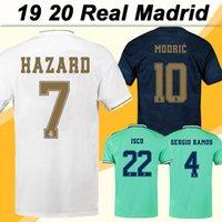 hülsenjersey fußball großhandel-19 20 Real Madrid HAZARD BENZEMA Fußballtrikots MODRIC MARIANO SERGIO RAMOS KROOS Heim Auswärts Herren Fußballtrikots ISCO BALE Kurzarm