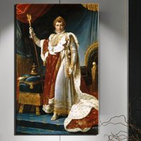 Wholesale portrait nude painting art for sale - Group buy 1 Portrait of Napoleon Classical Oil Paintings Print On Canvas Art Prints European court Wall Pictures For Living Room No Frame