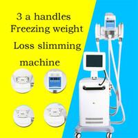 máquina de terapia de vacío para adelgazar al por mayor-Profesional 3 manijas de vacío Láser frío fresco Terapia Cryo grasa freezing la pérdida de peso que adelgaza la máquina