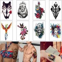 Wholesale owl pictures for sale - Group buy Cool Animal Tattoo Waterproof Temporary Body Art Makeup Design Unicorn Wolf Tiger Lion Owl Fox Cat Picture Decal Colorful Tattoo Sticker Hot