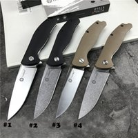 Wholesale folding knives china resale online - China Brand S Flipper Folding Knife C Blade Fiber Nylon Stainless Steel Sheets Handle Ball Bearing Knives EDC Tools