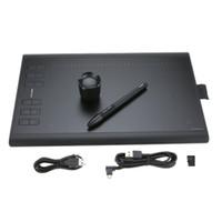 tablet usb recarregável venda por atacado-Tablet de Desenho Gráfico profissional Micro USB Assinatura Digital Tablets Board 1060PLUS com Pintura Caneta Recarregável Titular Almofadas de Escrita