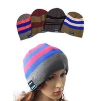 Wholesale music hats resale online - 10 Colors Wireless Bluetooth Beanies Sport Music Hat Smart Headset Cap Warm Winter Hat With Mic Speaker For All Smart Phones CCA8404