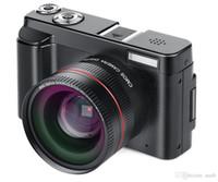 cámara nueva al por mayor-2019-Nuevo sistema portátil sin espejo Cámaras 16X Zoom digital 24MP 3.0 pulgadas Pantalla TFT Reconocimiento de rostro Antivibraciones Cámara HD de alta definición