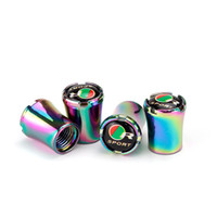 Wholesale alloy valve stems resale online - Car Tire Valve Caps Air Stem Cap Auto Wheel Decoration Metal Alloy Nut Tyre Airtight Cover Auto Accessories Car Styling