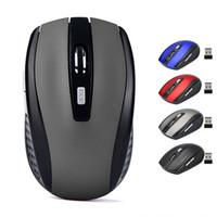usb mouse toptan satış-2.4 GHz USB Optik Kablosuz Fare USB Alıcı fare Akıllı Uyku Enerji Tasarrufu Fareler Bilgisayar Tablet PC Dizüstü Masaüstü