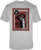máquina estampadora de prata venda por atacado-Rage Against the Machine selo postal M L prata camiseta