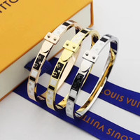 Wholesale christmas gift wrap sets resale online - Fashion brand womans Beacelets For Women Wrap Cuff Slake alloy Bracelets With alloy buckle Couple Nature Jewelry no box aem88a