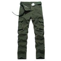 сумка для брюк оптовых-Explosive Men's Leisure Pants Pure Cotton Large Bags of Men's Workwear Army Trousers
