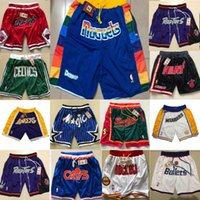 Wholesale 2019 new Just Don Shorts Basketball Short Team mens Pant With Pocket Zipper Wear Collection Mitchell Ness X Vintage sports all stitched