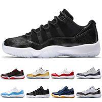 ingrosso nero 11s-Nike Air Jordan 11 Retro Alta qualità 11 XI 11s PRM Heiress Black Stingray Gym Red Chicago Midnight Navy Space Jams Uomini Scarpe da basket donna sport Sneaker 72-10