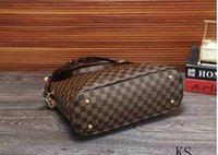 örgü moda trendi toptan satış-Yeni klasik bayanlar omuz çantası retro fermuar moda trendi rahat vahşi ekose çanta ücretsiz post toptan