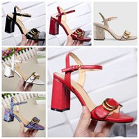 ingrosso migliori pantofole a tacco-2019 Donna Pantofole Sandali Scarpe di design Sandali con tacco e sandali di alta qualità Infradito Sandali di moda con scatola Dimensioni: 35-40 Spedizione gratuita 25