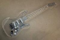 Wholesale acrylic electric guitar body resale online - Factory Custom LED Light Whole Plexiglass Acrylic Body Electric Guitar with SSS Pickups can be customized