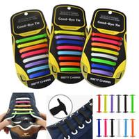 cordones de los zapatos libres al por mayor-Cordones de zapatos elásticos flexibles unisex de la nueva moda Sin cordones Zapatillas anudadas Nuevos cordones de la moda