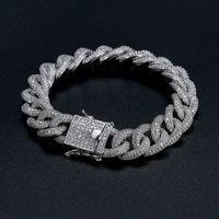beste männer armband großhandel-Kuba Armband Beste Qualität Hip-Hop Armband Voller Diamant Armband Micro Zirkonia Männer Schmuck Kupfer Plating18k Gold Mode
