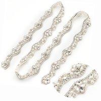 des garnitures pour coudre des perles achat en gros de-Applique De Perles À La Main En Perles De Strass Par Le 2CM * 5yards Garniture Coudre Sur Ceinture De Robe De Mariée YS810