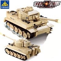 Wholesale tank tiger for sale - Group buy 995pcs German King Tiger Tank Building Blocks Sets Military Technic Ww2 Army Soldiers Diy Bricks Legoingls Toys For ChildrenMX190820
