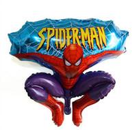 ingrosso palloncini rossi-Palloncini per cartoni animati Palloncino rosso in alluminio Spiderman per la decorazione della festa di compleanno di nozze Cartoni animati Palloncino foil Forniture per feste