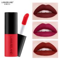 Wholesale lipstick sample mini resale online - LAMUSELAND Sample Size lipstick Waterproof Long Lasting Matte Mini Liquid Lipstick Easy To Carry Colors g Lip Makeup TSLM1