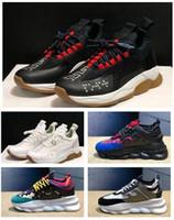 ingrosso scarponi scarpe miste-I più popolari 2 Scarpe Chainz Chain Reaction Scarpa ingombrante Stampa Mix Achilles Training Sneaker Reaction Sneakers Scarpe da corsa nere per uomo donna stivali