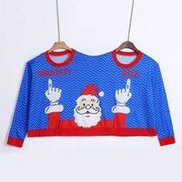 bluz fiyatları toptan satış-Sunfree İki Kişi Triko Unisex Çiftler Kazak Yenilik Noel Bluz Üst Gömlek Düşük Fiyat Promosyonlar Kalite Kazak 3L45
