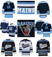kişiselleştirilmiş hokey formaları toptan satış-Özel NCAA Maine Siyah ayılar Jersey Womens Çocuklar Youth100% Herhangi İsim NO.Best kalitesini Buz Hokeyi Ucuz Formalar Kişiselleştirilmiş işlemeli