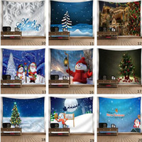 Wholesale yoga room decor for sale - Group buy Christmas Tapestry Wall Hanging Mats Decors Xmas Bohemian Tapestries Room Sofa Carpet Beach Towel Picnic Blanket Yoga Mat cm C92605