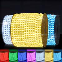 bandes de lumière led orange achat en gros de-Bande LED 60LEDs / M flexible de haute qualité de 5M 5050 300SMD LED imperméabilisent à CA 220V de bande de bande