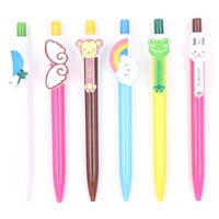 Wholesale ballpoint pen lovely gift resale online - Jonvon Satone Kawaii Cartoon Ballpoint Pens Cute Lovely Cat Bird Ball Pen Plastic School Supplies Korean Stationery Gifts
