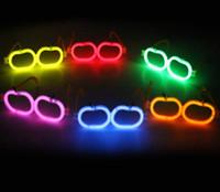 apfelförmige gläser großhandel-Kunststoff PE Brille Apple Form Eco freundliche Brille ohne fluoreszierende Stick Brillen für stimmliche Konzert Party Dekoration
