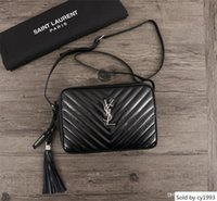 Wholesale lady famous designer wallet resale online - Women S Handbag Crossbody Messenger Famous Female Handbags Wallet Leather Bag Ladies Shoulder Bags Ll68