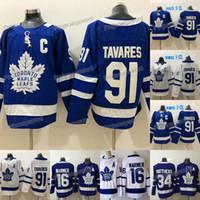ingrosso donne di jersey-2019 Nuovo 91 John Tavares capitano C Patch Toronto Maple Leafs Jersey 16 Mitch Marner 34 Auston Matthews delle donne degli uomini gioventù scherza il pullover del hokey