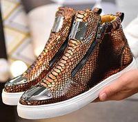 botas de cuña zapatos de boda al por mayor-Las últimas botas de marca para hombre, zapatos casuales de alta calidad, zapatos para caminar de cuello alto, zapatos casuales para hombres, zapatos de boda para fiestas G171