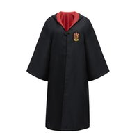 conjunto de traje de cosplay para adultos al por mayor-Niños Cosplay Capa Capa Traje Adulto Halloween Harry Potter Conjunto Túnica mágica Gryffindor Slytherin Ravenclaw Robe Cloak Cloak Trajes