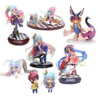 escala de caracteres al por mayor-Anime Life No Game No Life Shiro Nendoroid Shiro 653 # Juego de Vida Pintado Escala Acción de PVC Figura de personaje Modelo Juguetes