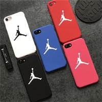 5 сотовых телефонов оптовых-Бык играть в баскетбол телефон случаях матовый чувствовать себя для Iphone X XS MAX XR PC жесткий бренд сотовый телефон чехол для Iphone 6 7 8 Plus 5 5S SE