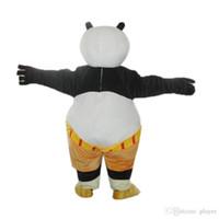 desenhos animados da panda do natal venda por atacado-Adultos Kungfu Panda Traje Da Mascote Dos Desenhos Animados Personagem Urso Panda Trajes Da Mascote Fancy Dress for Christmas Halloween