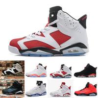 quality design 699b3 f4276 Nike Air Jordan 1 4 6 11 12 13 Retro 6 chaussures de basket carmin Classic  6s UNC noir bleu blanc infrarouge faible chrome femmes hommes sport bleu  rouge ...
