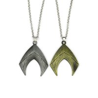 Wholesale dc cosplay for sale - DC Aquaman Necklace Justice League Keyring Alloy Keychain phone Pendants Charm with Lanyard Fashion Jewelry For Cosplay