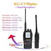 Wholesale walkie dtmf for sale - Group buy Wouxun KG UV9D Plus UV Multi functional Ham radio DTMF Walkie Talkie bands Two Way Radio KG UV9DPLUS FM transceiver