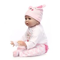 Wholesale baby children play doll for sale - Group buy Bebe Reborn girl doll reborn silicone vinyl children play house toys gift boneca reborn silicone baby