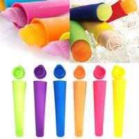 eiscreme-lachsformen groihandel-Silikon Ice Cream Moulds Startseite Eiscreme-Hersteller DIY Sommer Gefrorenes Eis-Stick-Form-Küche-Werkzeuge Popsicle-Hersteller Lolly Mold TA783