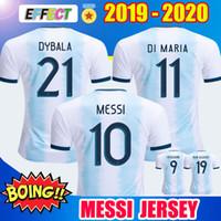 camiseta de fútbol del equipo nacional de tailandia al por mayor-Tailandia 2019 Argentina Soccer Jerseys Copa América 2020 equipo nacional MESSI DYBALA HIGUAIN ICARDI Camisetas de futbol football Camisetas Kit