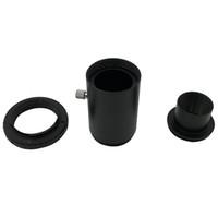 дюймовое алюминиевое кольцо оптовых-Новая распродажа алюминиевый T2 адаптер телескоп удлинитель 1.25 дюймов телескоп крепление адаптер резьба T-Ring камеры аксессуары Appli