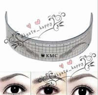 Wholesale ship tattoo stencil for sale - Group buy Permanent Makeup Stencils Plastic Eyebrow Ruler Tattoo Radian Ruler Shaping Tool for Beginner