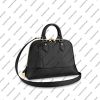 Wholesale top handles resale online - M44832 NEO ALMA PM Clutch embossed cowhide leather studs top handle women designer handbag messenger purse crossbody shoulder bag