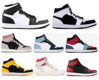 Nuevo 1 Panda Phantom Sail Rojo Neutral Gris Carmesí Mediados Multicolor Zapatos de baloncesto Hombre 1s UNC Blue Chill Nuevas zapatillas Love con